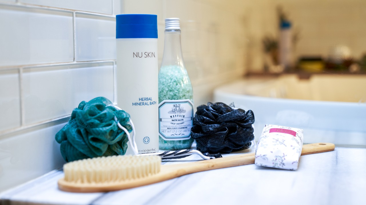 Relaxing bath products for a perfect bubble bath