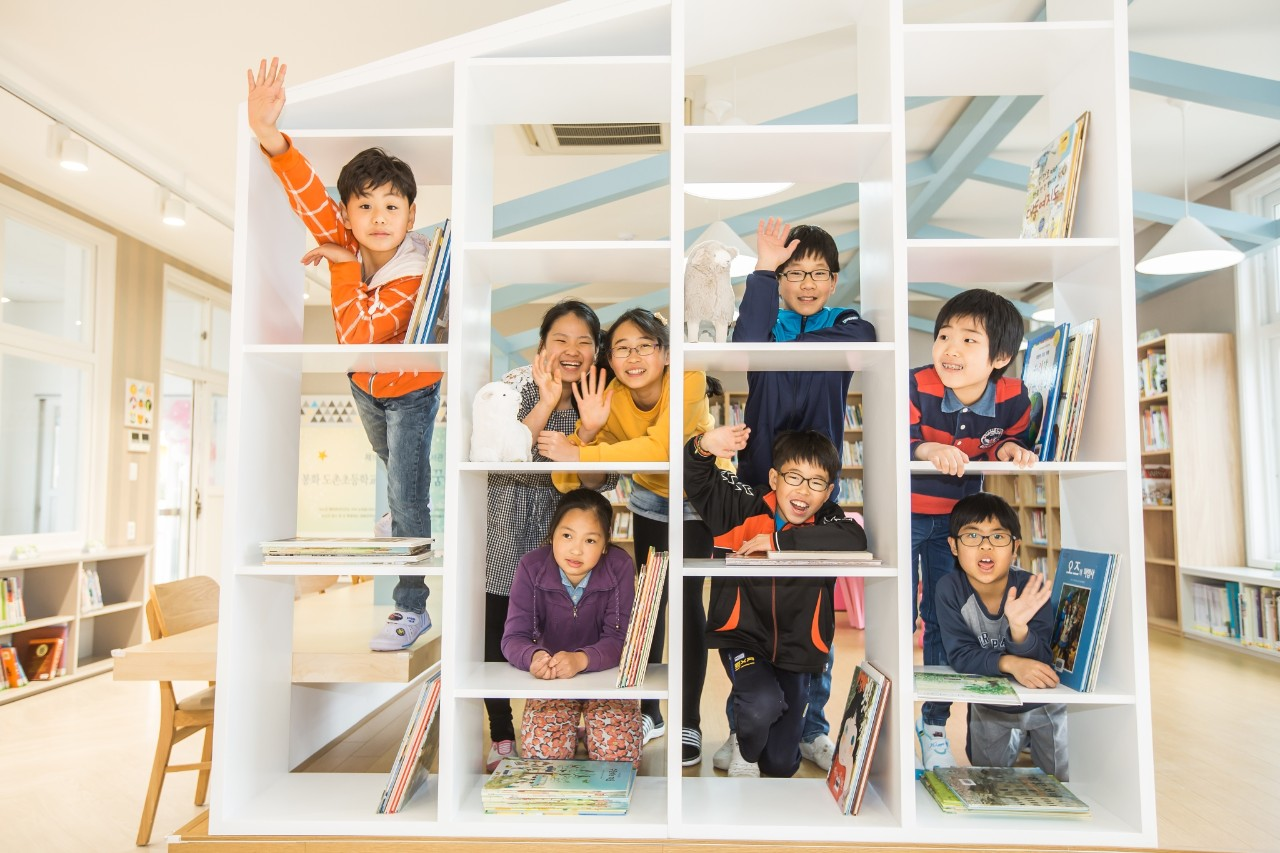 Korean children in a Nu Hope Library.