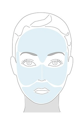 quadrants of the face defined for ageloc lumispa facial cleansing device
