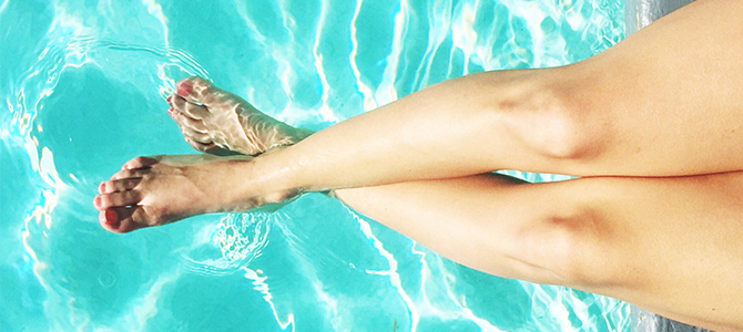 Summer skin care for healthy legs